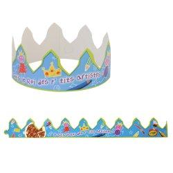 画像1: ガレットデロワ 王冠 ブルー 5枚入